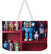 Toy Robots On Shelf  Weekender Tote Bag by Garry Gay