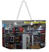 Toys Import Data India Weekender Tote Bag