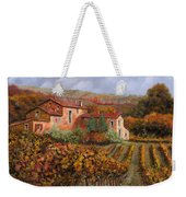 tra le vigne a Montalcino Weekender Tote Bag
