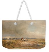 Track On A Windy Day Weekender Tote Bag