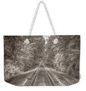 Tracks Bw Weekender Tote Bag