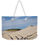 Tracks In The Sand Dunes Weekender Tote Bag