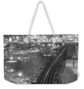 Tracks Into The City Weekender Tote Bag
