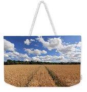 Tracks Through Wheat Field Weekender Tote Bag