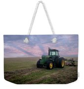 Tractor In A Field - Early Morning Weekender Tote Bag