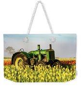 Tractor In A Field Weekender Tote Bag