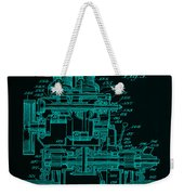 Tractor Patent Drawing 7f Weekender Tote Bag