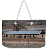 Tractor Port On The Ranch Weekender Tote Bag