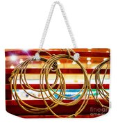 Trade Tools Of A Rodeo Cowboy Weekender Tote Bag