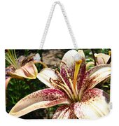 Traditional Art Lily Flowers Floral Garden Baslee Troutman Weekender Tote Bag