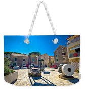 Traditional Dalmatian Town Of Tisno Square Weekender Tote Bag