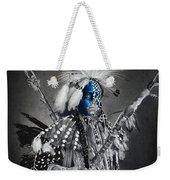 traditional dancer Blue Weekender Tote Bag
