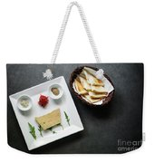 Traditional French Foie Gras Pate And Toast Starter Snack Platte Weekender Tote Bag