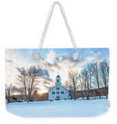 Traditional New England White Church Etna New Hampshire Weekender Tote Bag