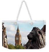 Trafalgar Square Lion With Big Ben Weekender Tote Bag