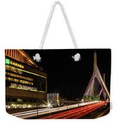 Traffic Racing Over Zakim Bridge Weekender Tote Bag