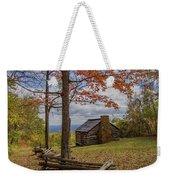 Trail Cabin Weekender Tote Bag