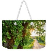 Trail Into Sunset Weekender Tote Bag