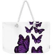 Trail Of The Purple Butterflies Transparent Background Weekender Tote Bag