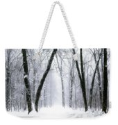 Trail Through The Winter Forest Weekender Tote Bag