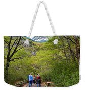Trail To Waterfall In Vicente Perez Rosales National Park Near Puerto Montt-chile Weekender Tote Bag
