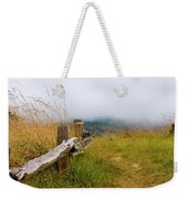 Trail With Coastal Morning Fog Weekender Tote Bag