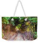 Trails Of Tracks Weekender Tote Bag