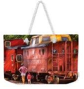 Train - Car - Pennsylvania Northern Region Caboose 477823 Weekender Tote Bag