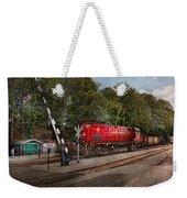 Train - Diesel - Look Out For The Locomotive  Weekender Tote Bag by Mike Savad