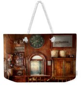 Train - Office - The Ticket Takers Window Weekender Tote Bag