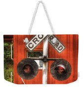 Train - Yard - Railroad Crossing Weekender Tote Bag