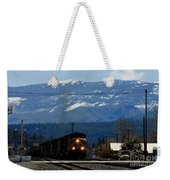 Train Entering Truckee California Weekender Tote Bag