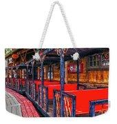 Train In Amusement Park Weekender Tote Bag by Gunter Nezhoda