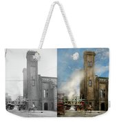 Train Station - Look Out For The Train 1910 - Side By Side Weekender Tote Bag