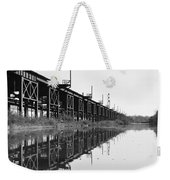 Train Track Reflections Weekender Tote Bag
