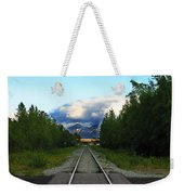 Train Tracks Anchorage Alaska Weekender Tote Bag
