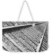 Train Tracks Triangular In Black And White Weekender Tote Bag