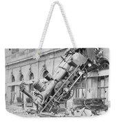 Train Wreck At Montparnasse Station Weekender Tote Bag