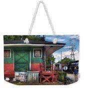 Train - Yard - The Train Station Weekender Tote Bag by Mike Savad