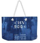 Trains 14 Cyanotype Weekender Tote Bag