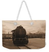 Trains 3 Sepia Weekender Tote Bag
