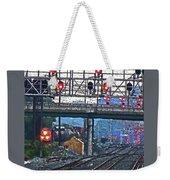 Trains Go Here Weekender Tote Bag