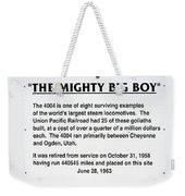 Trains Mighty Big Boy Signage Weekender Tote Bag