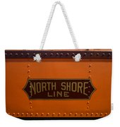Trains North Shore Line Chicago Signage Weekender Tote Bag