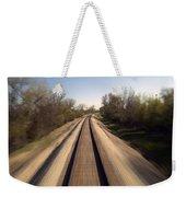 Trains Power Approaching The Crossing Weekender Tote Bag