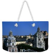 Trajan's Column Church Of Santa Maria Di Loreto Church Of Our Lady Giclee Rome Italy Weekender Tote Bag