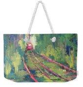 Pink Tram Weekender Tote Bag
