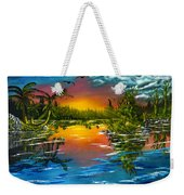 Tranquil Lake Weekender Tote Bag
