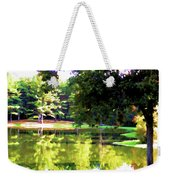 Tranquil Landscape At A Lake 1 Weekender Tote Bag