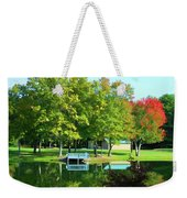 Tranquil Landscape At A Lake 4 Weekender Tote Bag